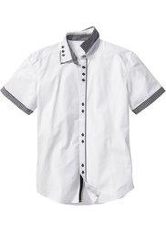 Рубашка Slim Fit с коротким рукавом (черный) Bonprix
