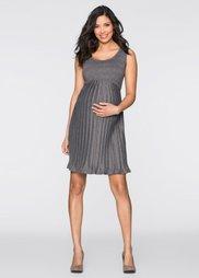 Мода для будущих мам: трикотажное платье (антрацитовый меланж) Bonprix
