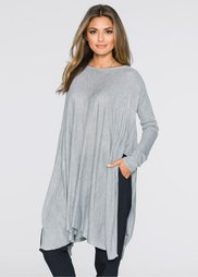 Пуловер (светло-серый меланж) Bonprix