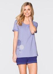 Пижама с шортами (лиловый/сиреневый с рисунком) Bonprix