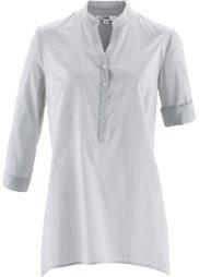 Блузка с удлиненными боковыми краями (цвет фуксии) Bonprix