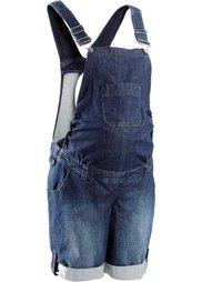 Мода для беременных: джинсовый полукомбинезон (синий «потертый») Bonprix