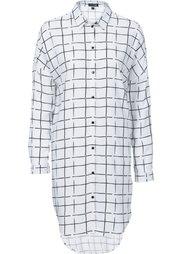Удлиненная блузка (черный/белый в клетку) Bonprix