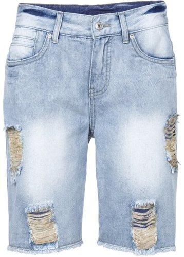 Джинсовые шорты (темно-синий «потертый»)