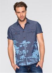 Рубашка Regular Fit с коротким рукавом (индиго) Bonprix