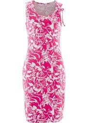 Трикотажное платье (аква/белый) Bonprix