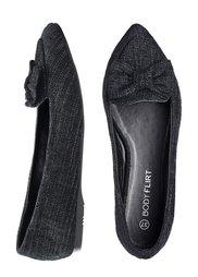 Балетки (черный с блеском) Bonprix