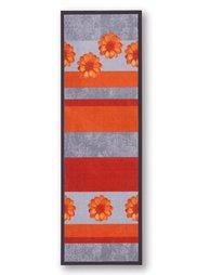 Коврик для двери Цветы (оранжевый) Bonprix