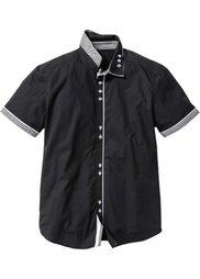 Рубашка Slim Fit с коротким рукавом (белый) Bonprix