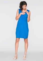 Мода для беременных: трикотажное платье с функцией кормления (морская синь) Bonprix
