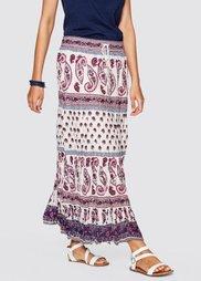 Длинная юбка (цвет белой шерсти с рисунком) Bonprix