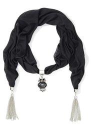Красивый шарфик с кисточками (лиловый) Bonprix