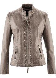 Куртка из искусственной кожи (шиферно-серый) Bonprix