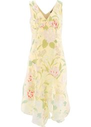 Платье с цветочным принтом (лососевый с рисунком) Bonprix