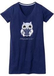 Ночная рубашка (нежно-розовый с рисунком) Bonprix
