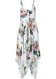 Обязательный элемент гардероба: платье с асимметричным низом (цвет белой шерсти/темно-синий ) Bonprix