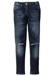 Джинсы Super Skinny с декоративными повреждениями, Размеры  116-170 (синий «потертый») Bonprix
