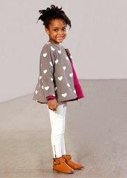 Флисовая куртка, Размеры  80/86-128/134 (серый меланж/цвет белой шерсти) Bonprix