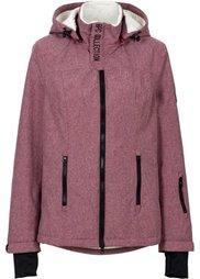 Функциональная куртка на плюшевой подкладке (шиферно-серый меланж) Bonprix