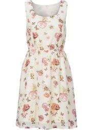 Летнее платье (белый с рисунком) Bonprix