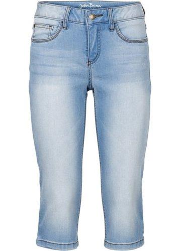 Джинсовые брюки-капри стретч, cредний рост (N) (темно-синий)