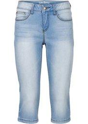 Джинсовые брюки-капри стретч, cредний рост (N) (темно-синий) Bonprix