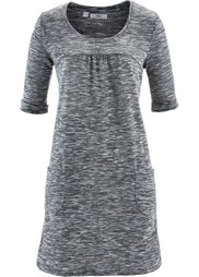 Трикотажное платье в меланжевом дизайне (изумрудный/черный меланж) Bonprix