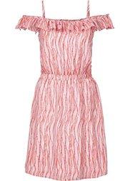 Платье с воланами (белый/синий/аква в полоску) Bonprix