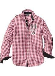 Рубашка Regular Fit с длинным рукавом (черный/белый в клетку) Bonprix