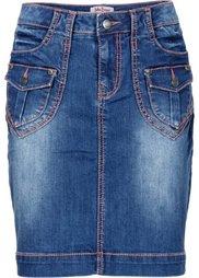 Джинсовая юбка-стретч (нежная фуксия) Bonprix