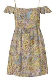 Платье с узором пейсли (синий/белый с рисунком) Bonprix
