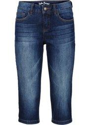 Джинсовые брюки-капри стретч, cредний рост (N) (нежно-голубой) Bonprix
