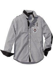 Рубашка Regular Fit с длинным рукавом (красный/белый в клетку) Bonprix