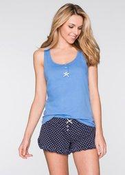 Пижама (синий/цвет белой шерсти в горо) Bonprix