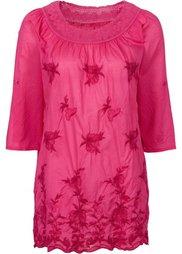Блузка с вышивкой (дымчато-серый) Bonprix
