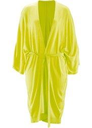 Удлиненный кардиган дизайна Maite Kelly с рукавом 3/4 (зеленый хаки) Bonprix
