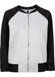 Куртка-бомбер под неопрен (серый/нежно-розовый) Bonprix