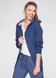Двухсторонняя трикотажная куртка (индиго/кристально-синий в поло) Bonprix
