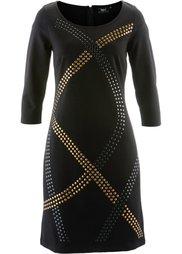 Трикотажное платье с заклепками (натуральный камень) Bonprix