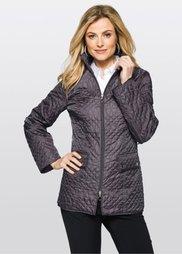 Стеганая куртка (серый) Bonprix