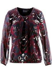 Блуза-туника (минерально-синий/черный с прин) Bonprix