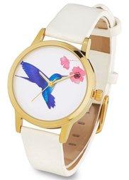 Часы на узком ремешке (мятный с бабочкой) Bonprix