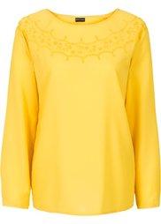 Блузка с вышивкой (цвет белой шерсти) Bonprix