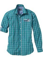 Клетчая рубашка Regular Fit с длинным рукавом (виноградный в клетку) Bonprix