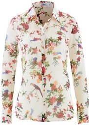 Шифоновая блузка (кленово-красный с принтом) Bonprix