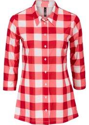 Трикотажная блузка (черный/белый в клетку) Bonprix