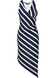 Асимметричное платье (клубничный/белый в полоску) Bonprix