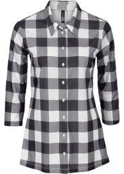 Трикотажная блузка (клубничный/белый в клетку) Bonprix