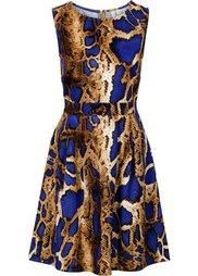 Платье из плотного трикотажа (леопардовый/коричневый) Bonprix