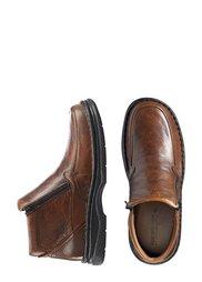Кожаные ботинки (коричневый) Bonprix